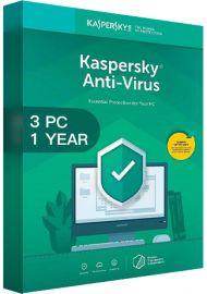 Kaspersky Antivirus 2020 - 3 PCs -  1 Year [EU]