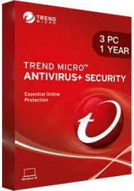 Trend Micro Antivirus + Security - 3 PCs - 1 Year [EU]